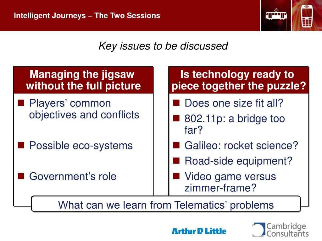 Intelligent Journeys – The Two Sessions