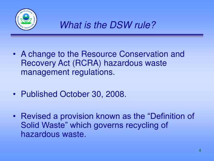 What is the DSW rule?