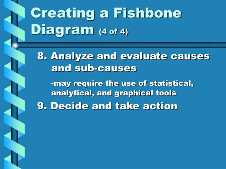 Creating a Fishbone Diagram
