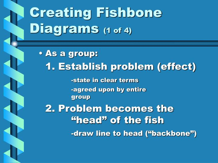 Creating Fishbone Diagrams