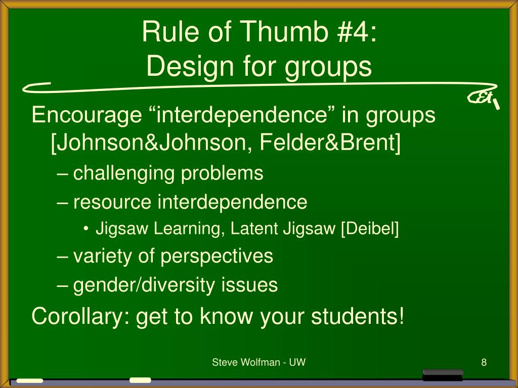 Rule of Thumb #4: