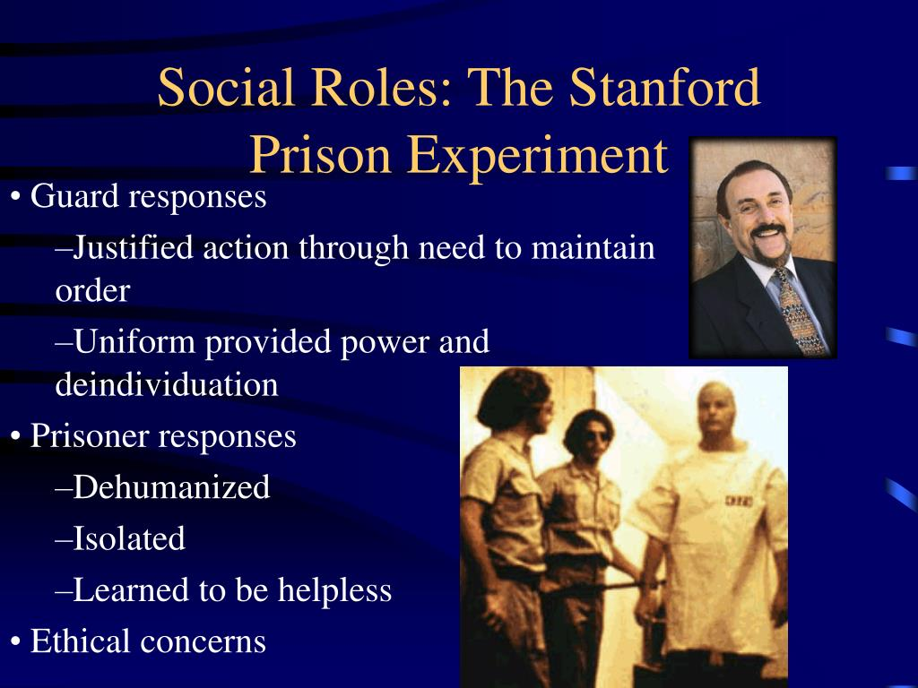 social roles the stanford prison experiment