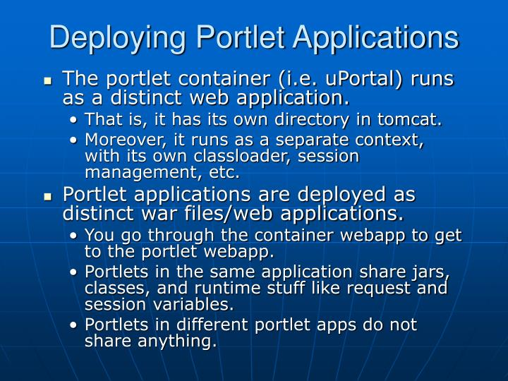 Deploying Portlet Applications