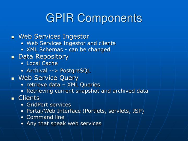GPIR Components