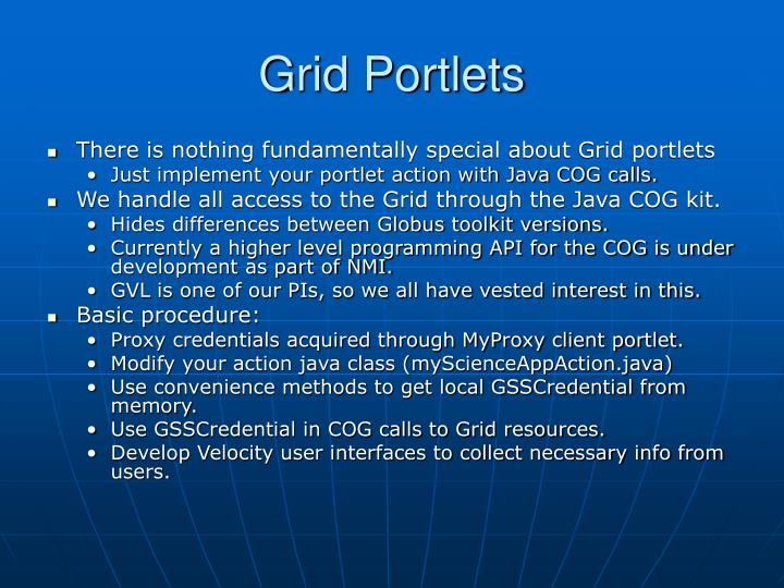 Grid Portlets
