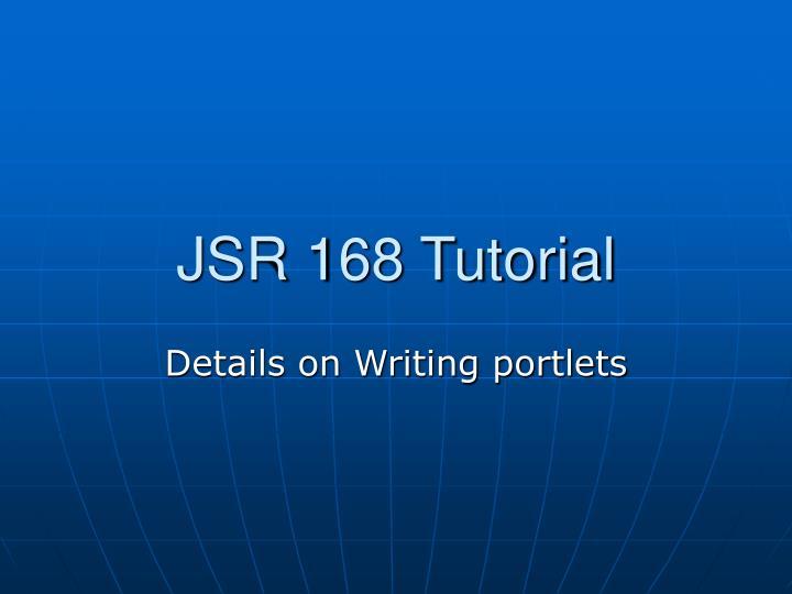 JSR 168 Tutorial