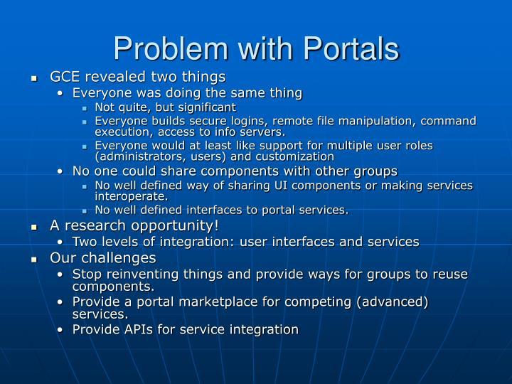 Problem with Portals