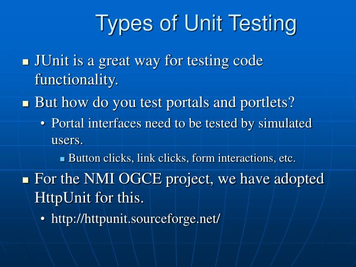 Types of Unit Testing