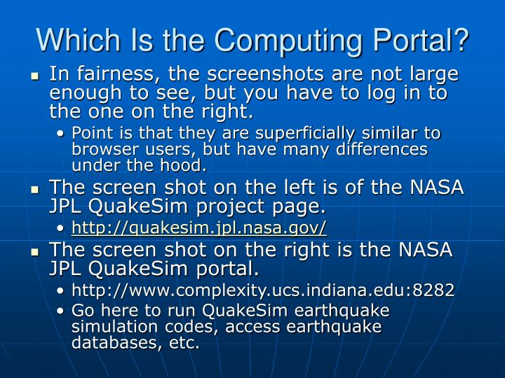 Which Is the Computing Portal?