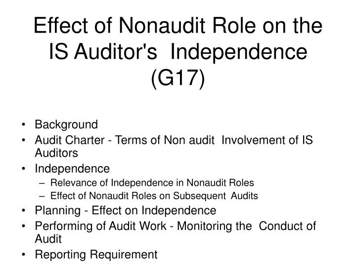 essay on auditor independence