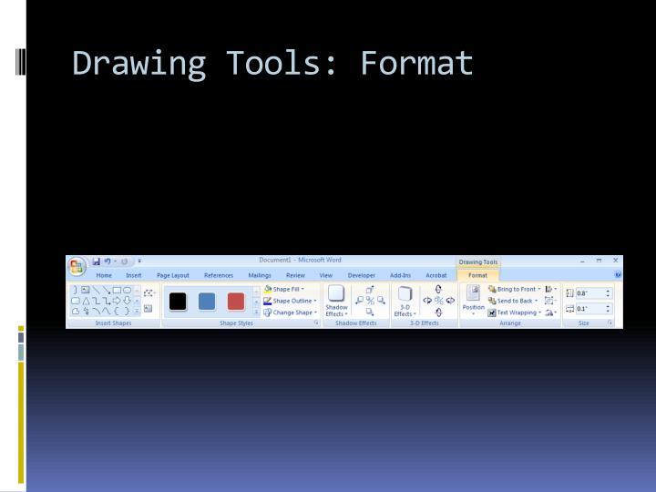 Drawing Tools: