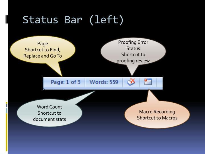 Status Bar (left)