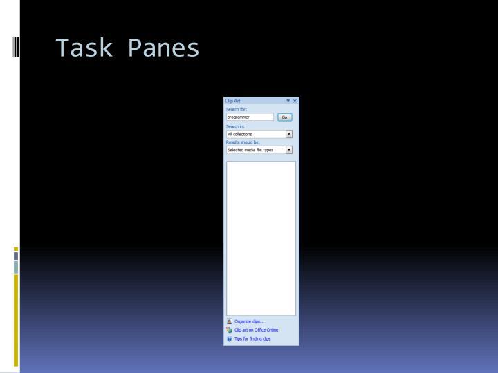 Task Panes