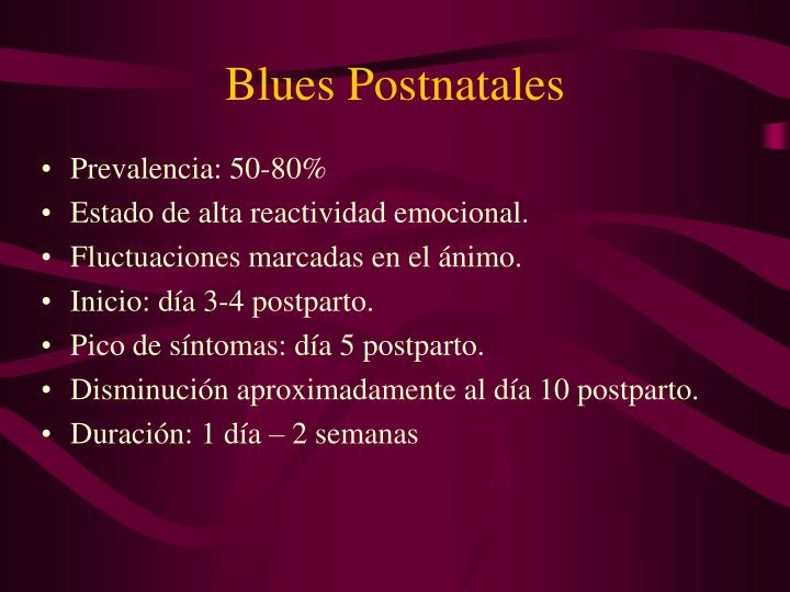 Blues Postnatales