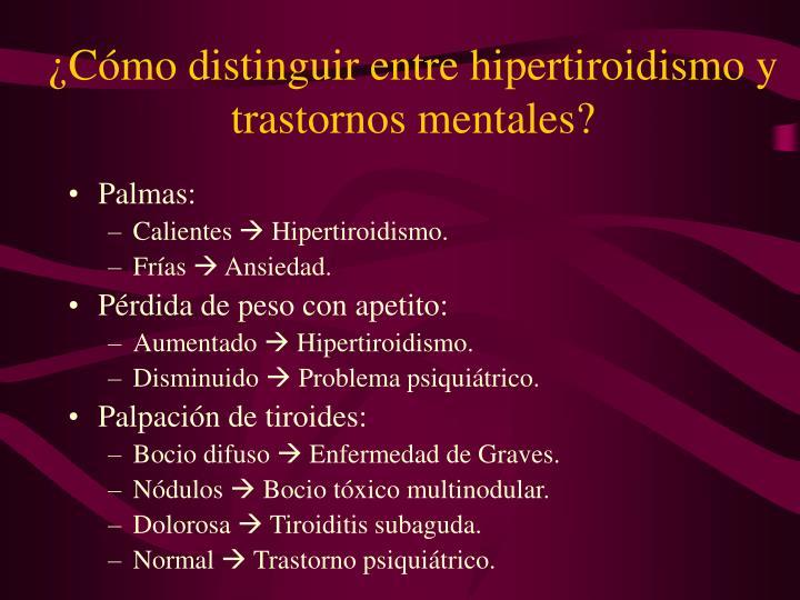 ¿Cómo distinguir entre hipertiroidismo y trastornos mentales?