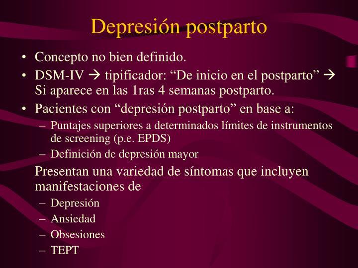 Depresión postparto