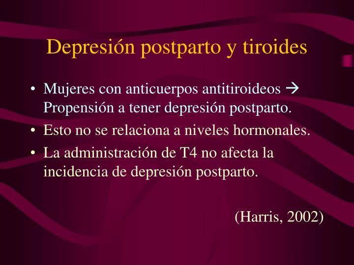 Depresión postparto y tiroides