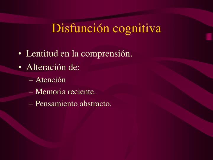 Disfunción cognitiva