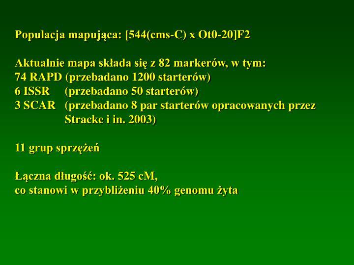 Populacja mapująca: [544(cms-C) x Ot0-20]F2