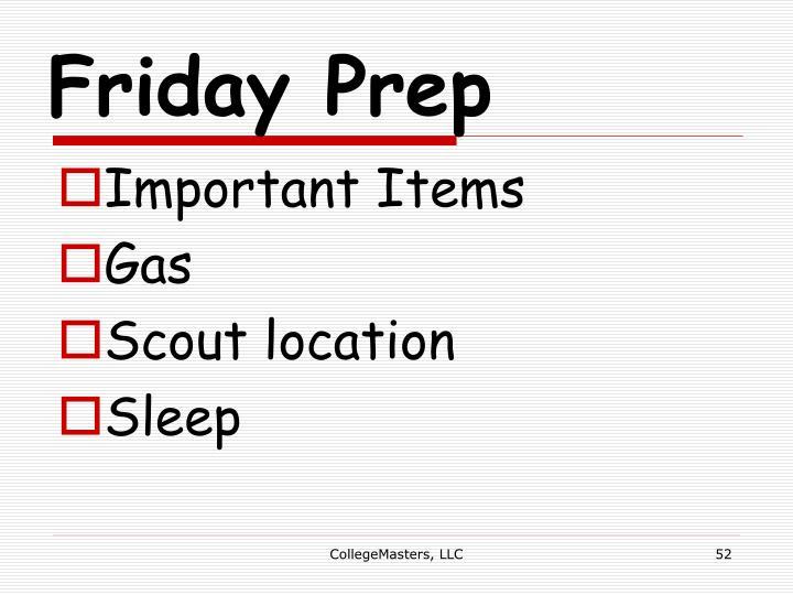 Friday Prep