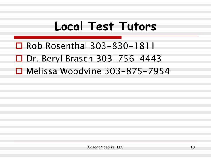 Local Test Tutors