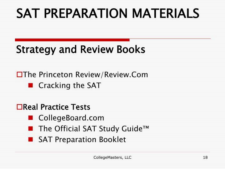 SAT PREPARATION MATERIALS