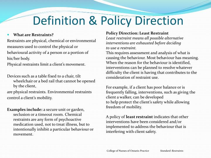 Definition policy direction