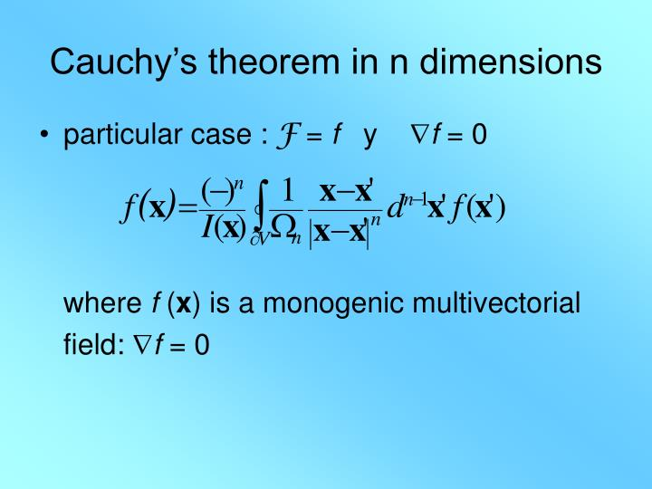 Cauchy's theorem in n dimensions