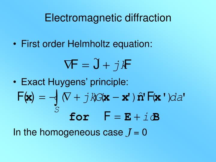 Electromagnetic diffraction