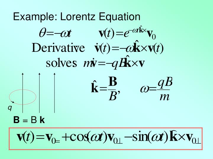 Example: Lorentz Equation