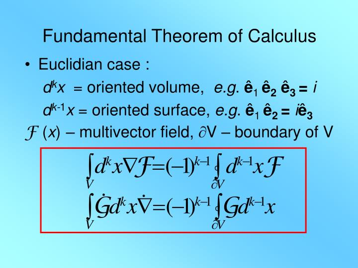 Fundamental Theorem of Calculus