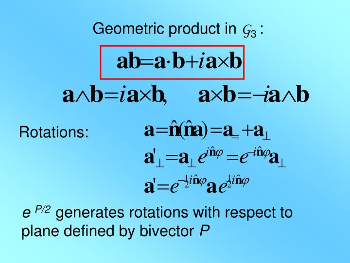 Geometric product in