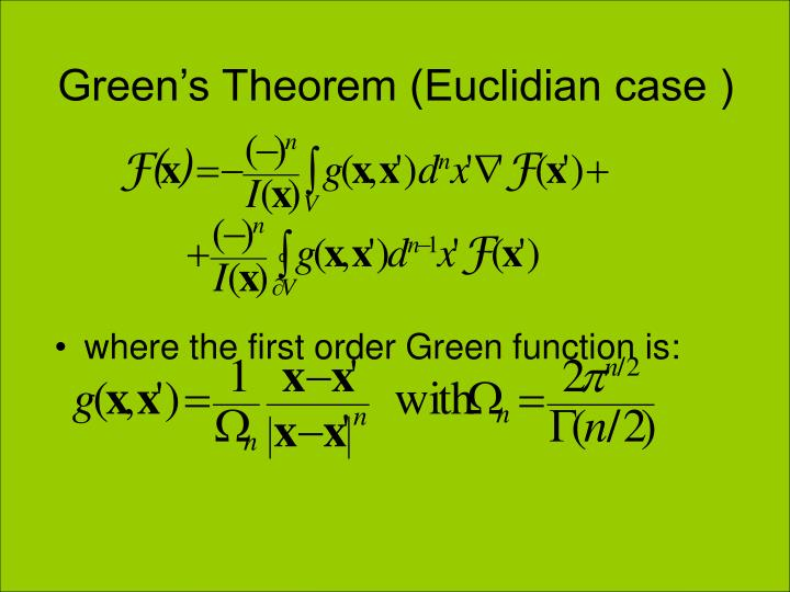 Green's Theorem (Euclidian case )