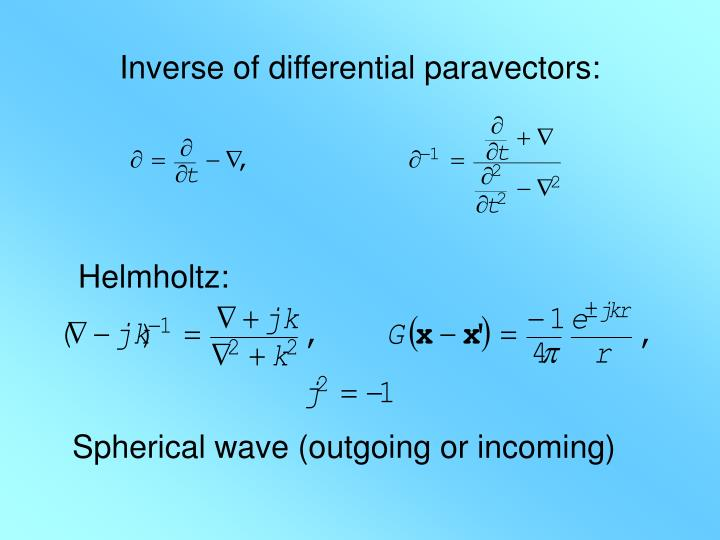 Inverse of differential paravectors: