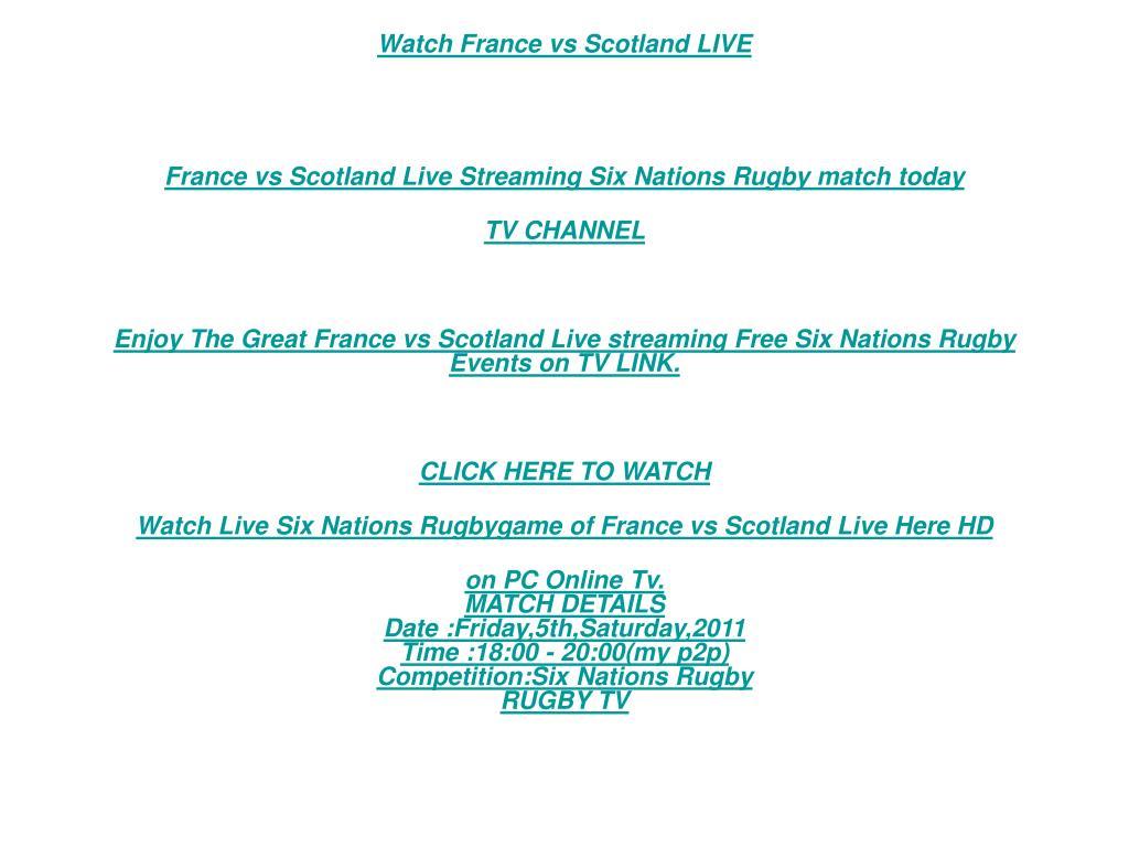 Watch France vs Scotland LIVE