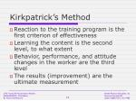 kirkpatrick s method
