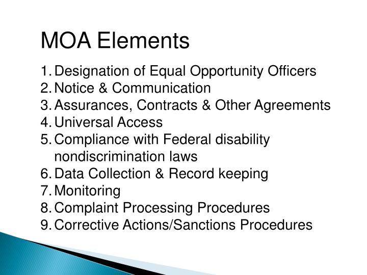 MOA Elements