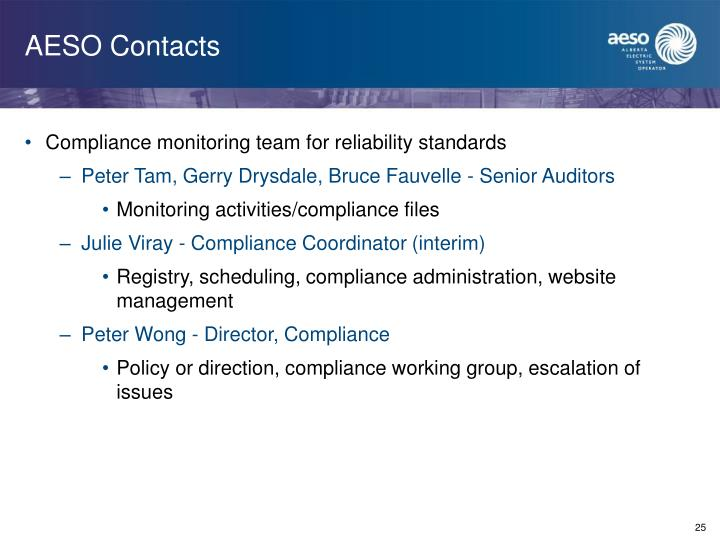 AESO Contacts