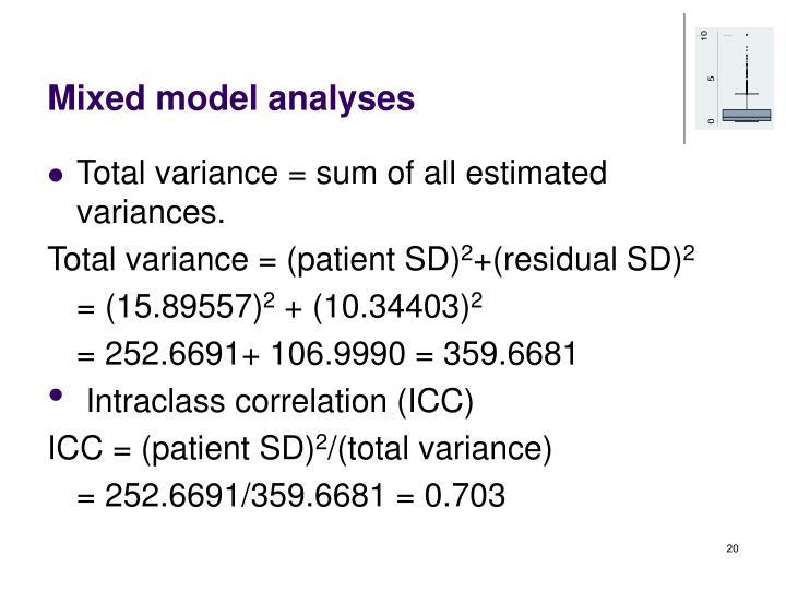 Mixed model analyses