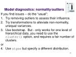 model diagnostics normality outliers1