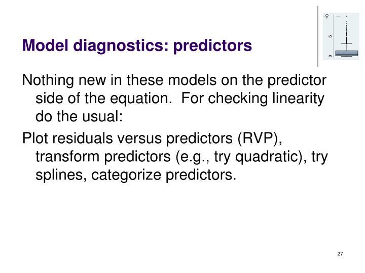 Model diagnostics: predictors
