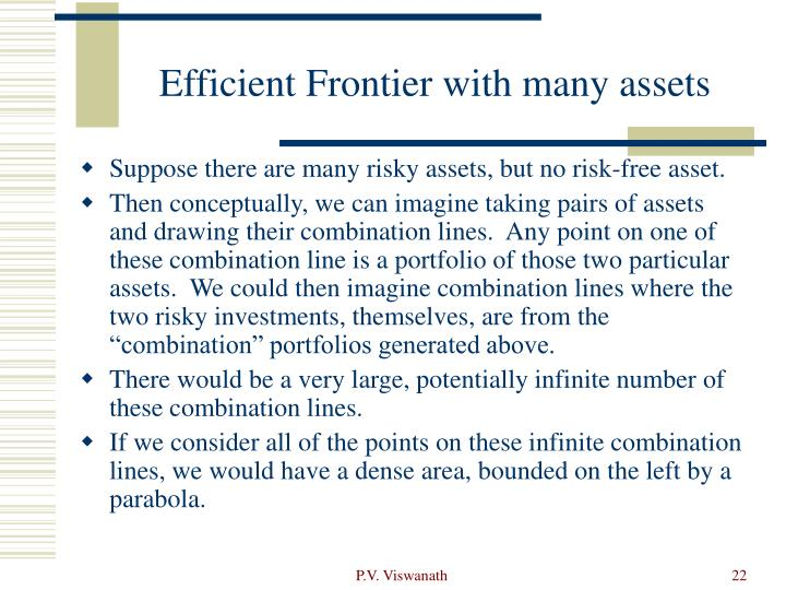 Efficient Frontier with many assets