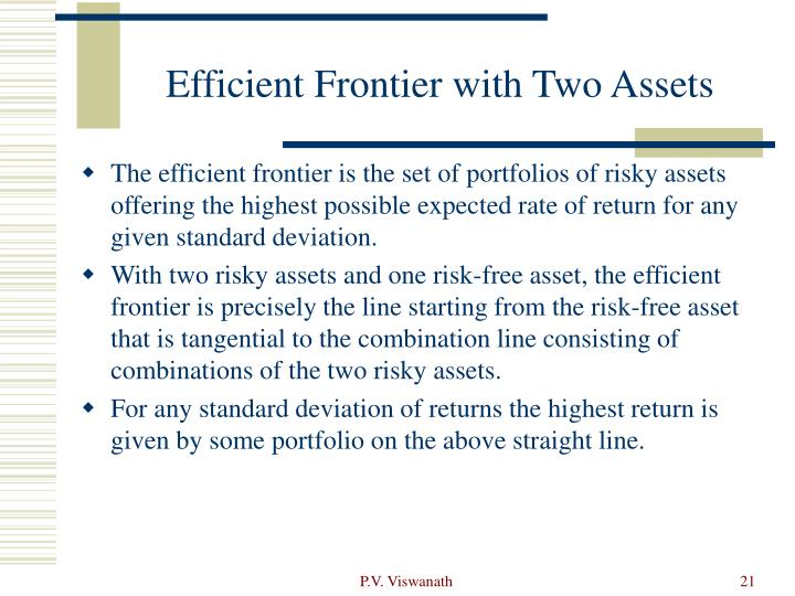 Efficient Frontier with Two Assets