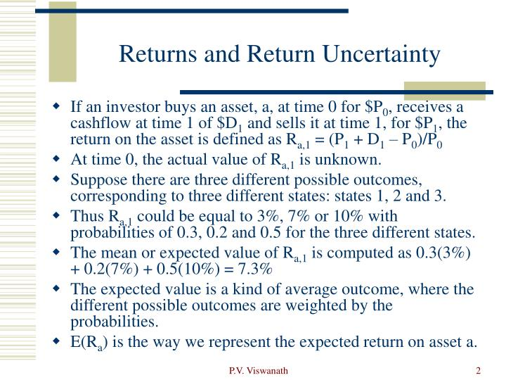 Returns and return uncertainty