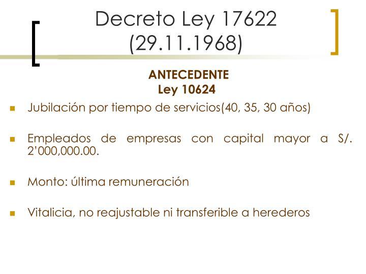 Decreto Ley 17622