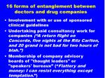 16 forms of entanglement between doctors and drug companies3