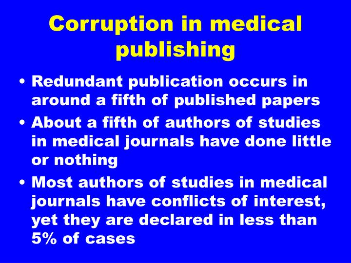 Corruption in medical publishing