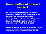 does conflict of interest matter1