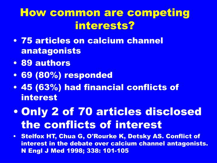 How common are competing interests?