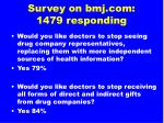 survey on bmj com 1479 responding